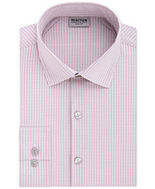 Kenneth Cole Reaction Men's Techni-Cole Slim-Fit Flex Collar Three-Way Stretch Performance Pink Check Dress Shirt