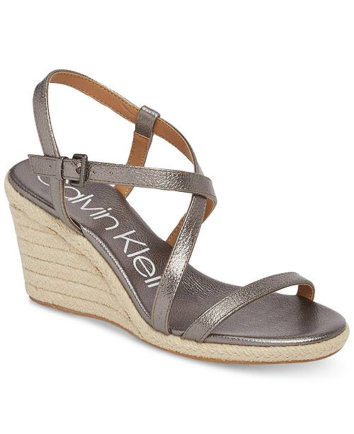 a51338be56a Calvin Klein Women's Bellemine Wedge Sandals & Reviews ...