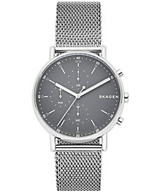 Skagen Men's Chronograph Signatur Stainless Steel Mesh Bracelet Watch 40mm