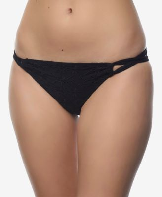 Juniors' Strappy Cheeky Bikini Bottoms