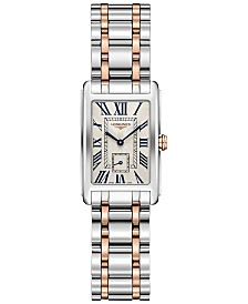 Longines Women's Swiss DolceVita 18K Gold & Stainless Steel Bracelet Watch 20.5mmx32mm