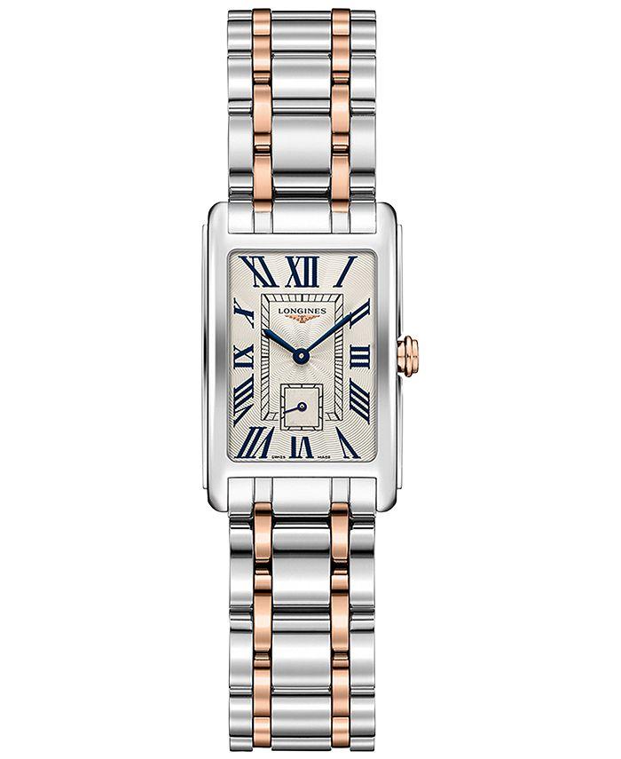 Longines - Women's Swiss DolceVita 18K Gold & Stainless Steel Bracelet Watch 20.5mmx32mm