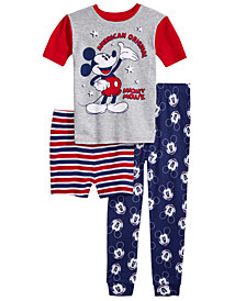 Disney's® Mickey Mouse 2-Pc. Cotton Pajama Set, Little & Big Boys, Created for Macy's