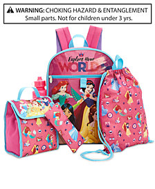 Disney's® Princesses 5-Pc. Backpack & Accessories Set, Little & Big Girls