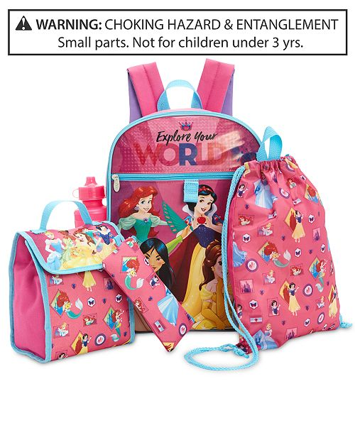 05c4bacd9635 Disney Princesses 5-Pc. Backpack & Accessories Set, Little & Big Girls ...