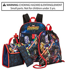 Marvel's® Avengers Little & Big Boys 5-Pc. Backpack & Accessories Set