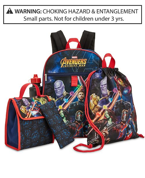 b161be2286 Marvel Avengers Little   Big Boys 5-Pc. Backpack   Accessories Set ...