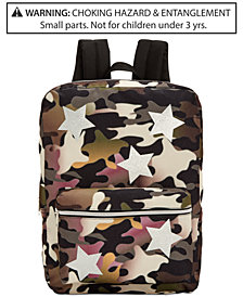 Global Design Concepts Camo-Print Star Backpack, Little & Big Girls
