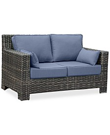 Viewport Wicker Outdoor Loveseat with Sunbrella® Cushions, Created for Macy's