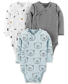 Carter's Baby Boys 3-Pack Printed Cotton Bodysuits
