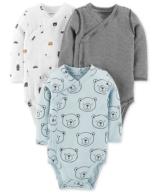 e5a19537c3 Carter s Baby Boys 3-Pack Printed Cotton Bodysuits - All Baby - Kids ...