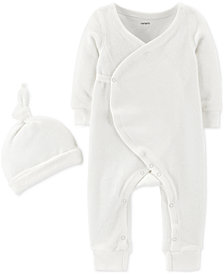 Carter's Baby Boys or Girls 2-Pc. Coverall & Hat Set
