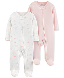 Carter's Baby Girls 2-Pk. Cotton Coveralls