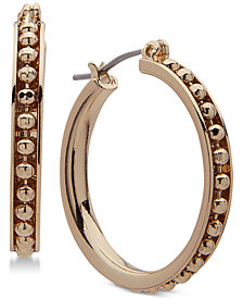 Anne Klein Gold-Tone Double-Row Hoop Earrings