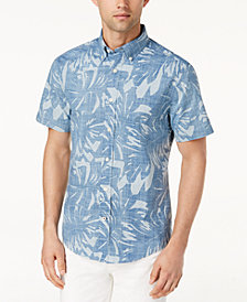 Tommy Hilfiger Men's Big & Tall Weathered Print Classic Fit Shirt, Created for Macy's