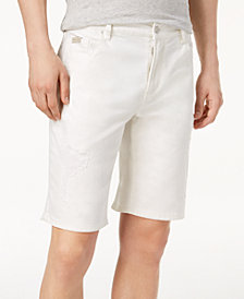 A|X Armani Exchange Men's Distressed Stretch Denim Bermuda Shorts