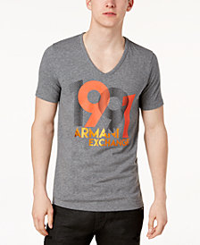 A|X Armani Exchange Men's Slim-Fit V-Neck Stretch T-Shirt