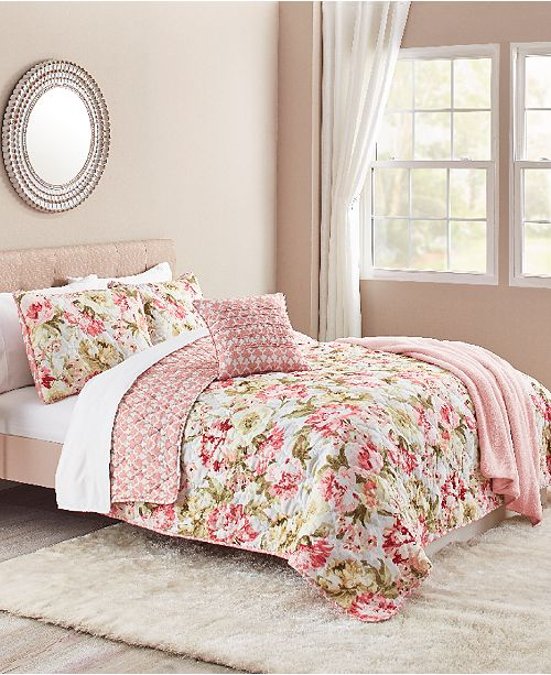 Sunham Ashley 5-Pc. Reversible Quilt Sets