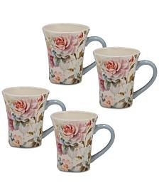 Certified International Beautiful Romance Mugs, Set of 4