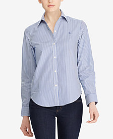 Lauren Ralph Lauren Petite Long-Sleeve Non-Iron Shirt