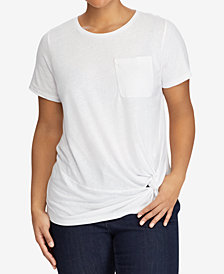Lauren Ralph Lauren Plus Size Twisted-Knot T-Shirt