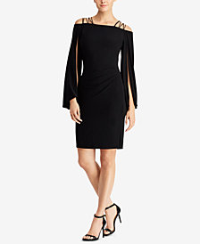 Lauren Ralph Lauren Satin-Strap Jersey Dress