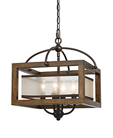 Cal Lighting 4-Light Semi-Flush Pendant