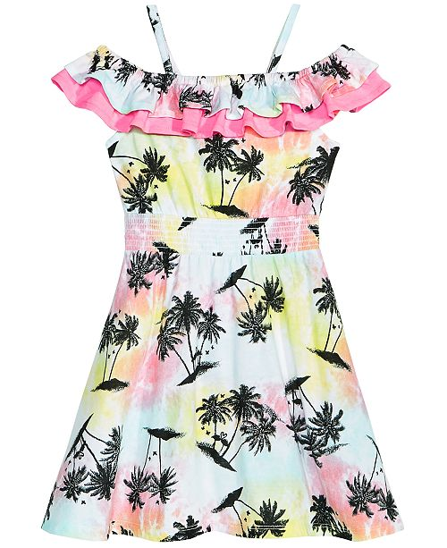 Epic Threads Toddler Girls Printed Double Ruffle Dress, Created for Macy's