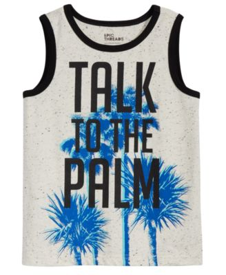 Little Boys Graphic-Print Tank Top, Created for Macy's