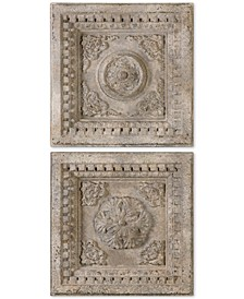 Auronzo 2-Pc. Aged Ivory-Tone Squares Wall Art Set
