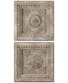 Uttermost Auronzo 2-Pc. Aged Ivory-Tone Squares Wall Art Set