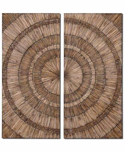 Uttermost Lanciano 2-Pc. Wood Wall Art Set