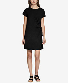 Sanctuary Wrapsody Cotton Tie-Side Dress