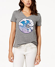 Carbon Copy Wave Graphic T-Shirt