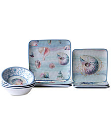 Certified International Ocean Dream Melamine 12-Pc. Dinnerware Set, Service for 4