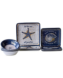Certified International Calm Seas 12-Pc. Dinnerware Set, Service for 4