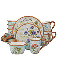Certified International 16-Pc. Herb Blossom Dinnerware Set