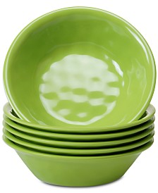 Certified International 6-Pc. Green Melamine All-Purpose Bowl Set