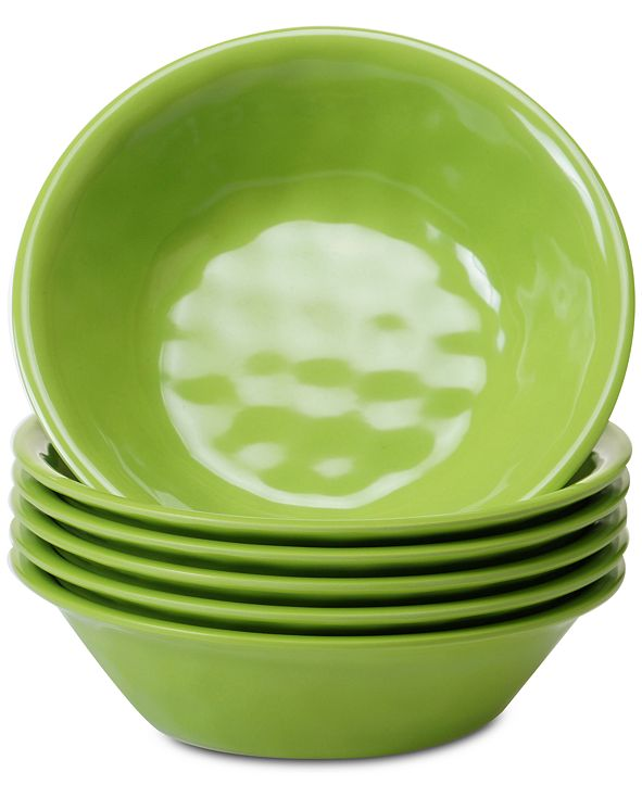 Certified International 6-Pc. Green Melamine All-Purpose Bowl Set