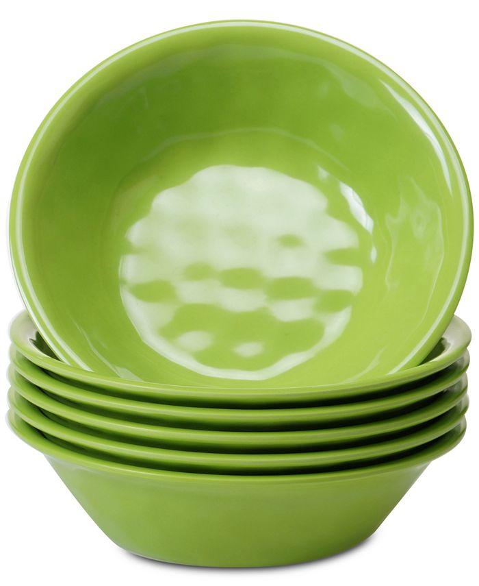 Certified International - 6-Pc. Green Melamine All-Purpose Bowl Set
