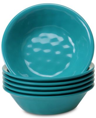 Teal Set of 6 All-Purpose Bowls