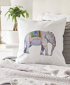 "Cathy's Concepts Elephant 16"" Square Decorative Pillow"