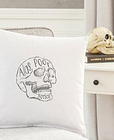 "Cathy's Concepts Alas, Poor Yorick 16"" Square Decorative Pillow"