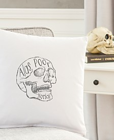 "Cathy's Concepts Alas, Poor Yorick 16"" Square Decorative Pillow"