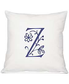 "Cathy's Concepts Personalized Floral Initial 16"" Square Decorative Pillow"