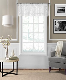 "Montego 52"" x 15"" Sheer Burnout Window Valance"