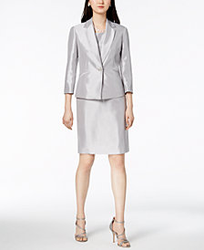 Le Suit Shiny One-Button Jacket & Dress