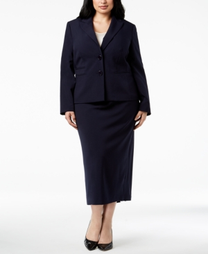 Le Suit Plus Size Two-Button...