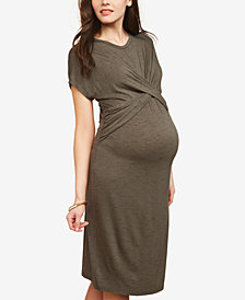 Motherhood Maternity Twist-Front Dress