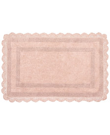 "Laura Ashley Crochet Cotton Reversible 17"" x 24"" Bath Rug"